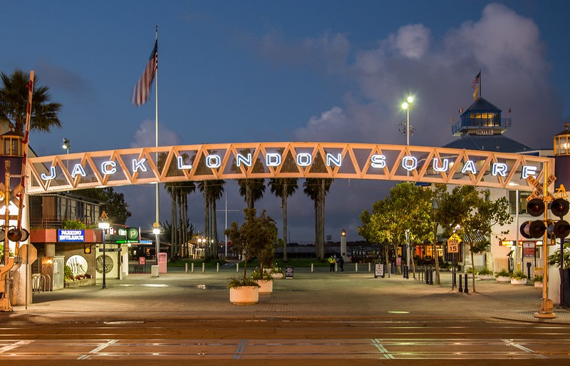 Photo of Jack London Square in Oakland, California.