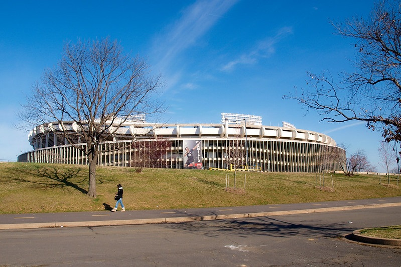 Exterior photo of RFK Stadium. Former home of the Washington Nationals.