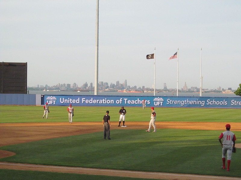 Photo of Richmond County Bank Ballpark in Staten Island, New York.