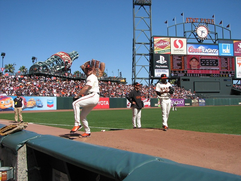Photo of the San Francisco Giants' bullpen at AT&T Park.