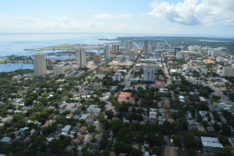 Aerial photo of downtown St. Petersburg, Florida.