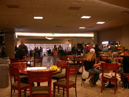 Photo of the Westside Club at Oakland Coliseum during an Oakland Athletics game.