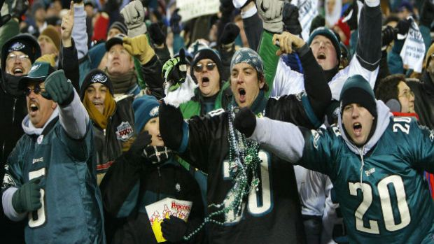 Photo of Philadelphia Eagles fans at Lincoln Financial Field.