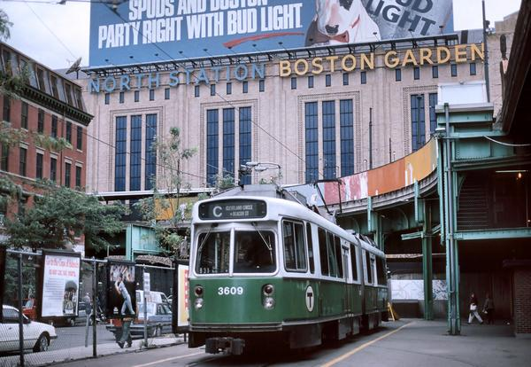 Photo of the historic North Station at Boston Garden.