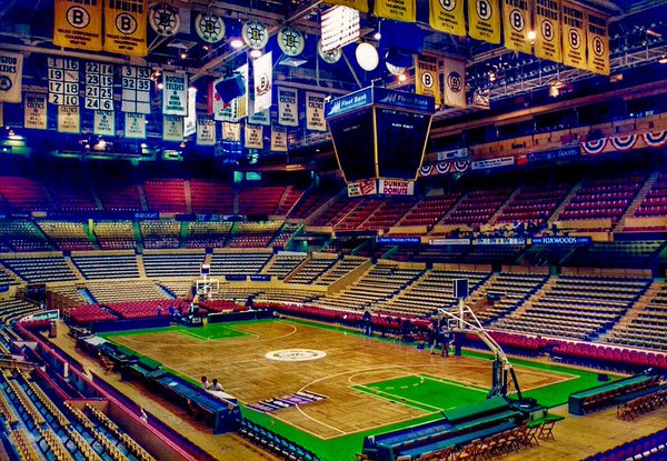 Photo of an empty Boston Garden during the 1990's.