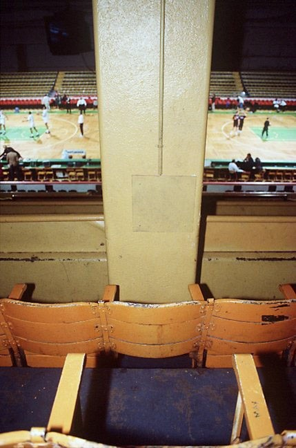 Photo of an obstructed view seat at the Boston Garden.