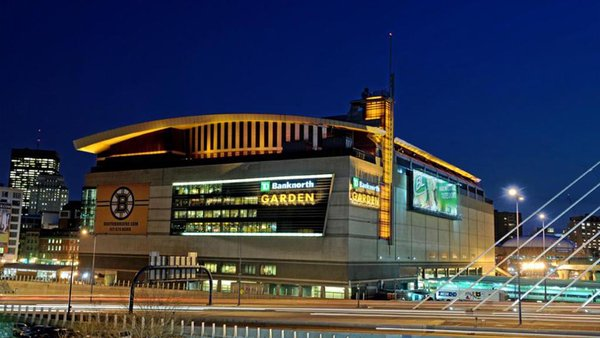 Exterior photo of the TD Garden. Home of the Boston Bruins and Boston Celtics.