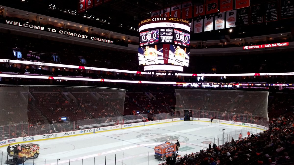 Club Box Seats at the Wells Fargo Center, Home of the Philadelphia Flyers