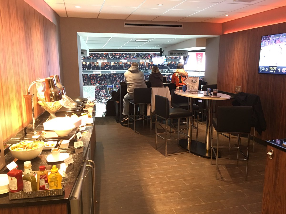 View inside the Luxury Suites at the Wells Fargo Center in Philadelphia