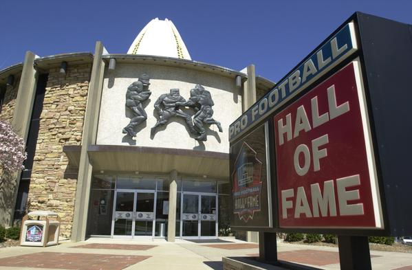 Pro Football Hall of Fame Main Entrance in Canton, Ohio