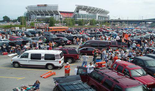 Exterior photo of FirstEnergy Stadium, home of the Cleveland Browns.