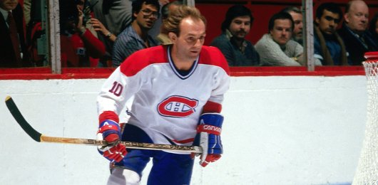 Photo of former Montreal Canadiens right winger Guy Lafleur.