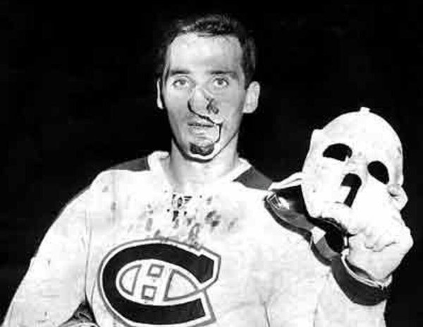 Photo of  former Montreal Canadiens legendary goalie Jacques Plante.