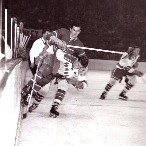 Photo of former Montreal Canadiens right winger Maurice Richard.
