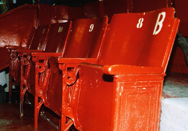 Photo of the old seats at Montreal Forum.