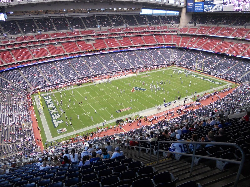Photo taken from the upper level of NRG Stadium during a Houston Texans home game.