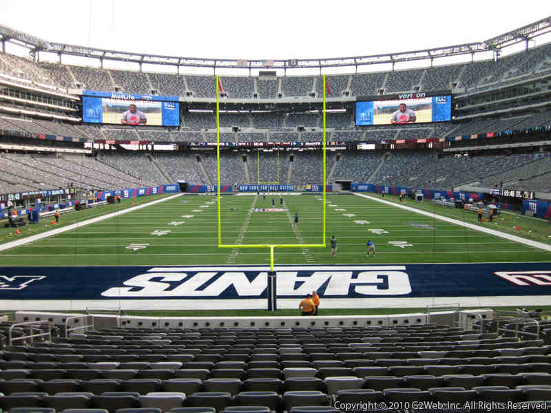 View from Section 101 at Metlife Stadium, Home of the New York Giants