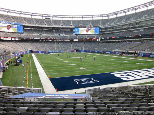 Seat view from section 104 at Metlife Stadium, home of the New York Jets