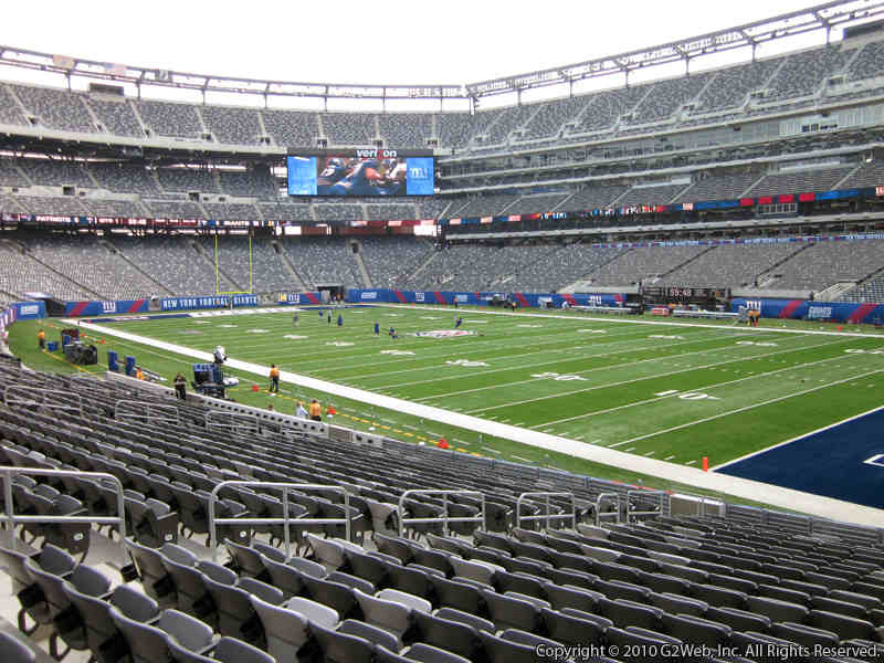 Seat view from section 108 at Metlife Stadium, home of the New York Giants