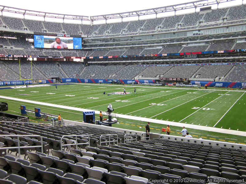 Seat view from section 110 at Metlife Stadium, home of the New York Giants