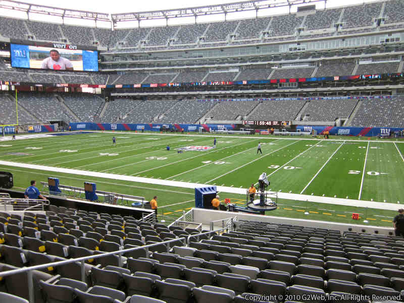 Seat view from section 111A at Metlife Stadium, home of the New York Jets