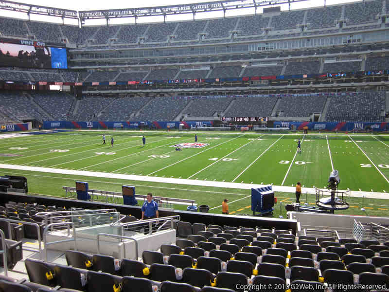 Seat view from section 111C at Metlife Stadium, home of the New York Giants