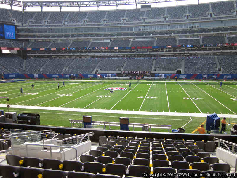 Seat view from section 112 at Metlife Stadium, home of the New York Giants