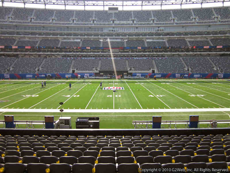 Seat view from section 113 at Metlife Stadium, home of the New York Jets