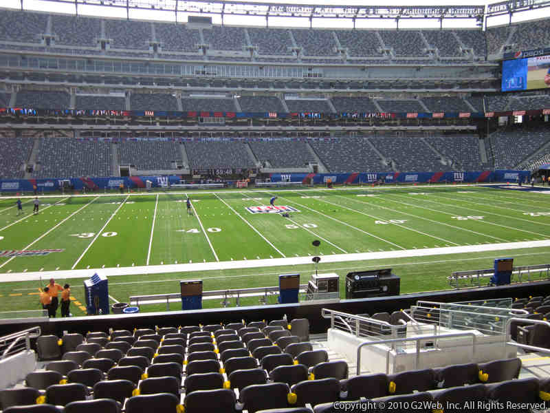 Seat view from section 114 at Metlife Stadium, home of the New York Giants