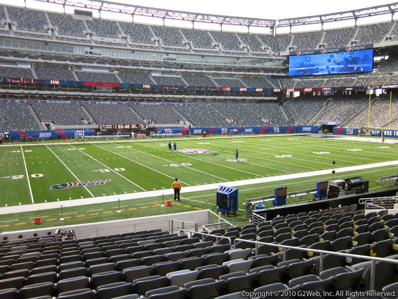 Seat view from section 115A at Metlife Stadium, home of the New York Giants