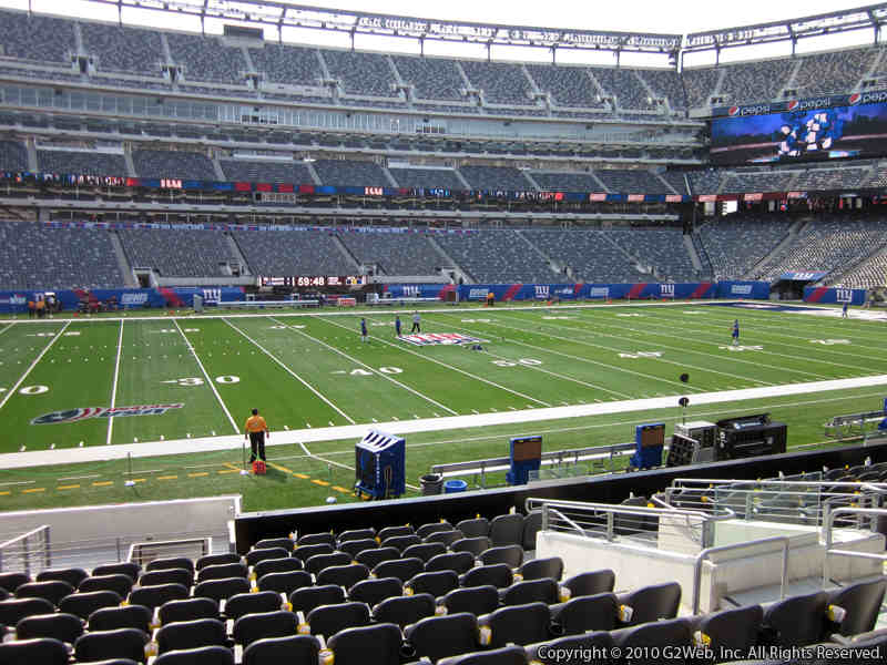 Seat view from section 115C at Metlife Stadium, home of the New York Giants