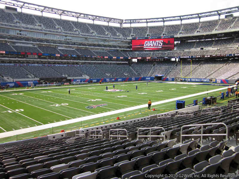 Seat view from section 117 at Metlife Stadium, home of the New York Giants