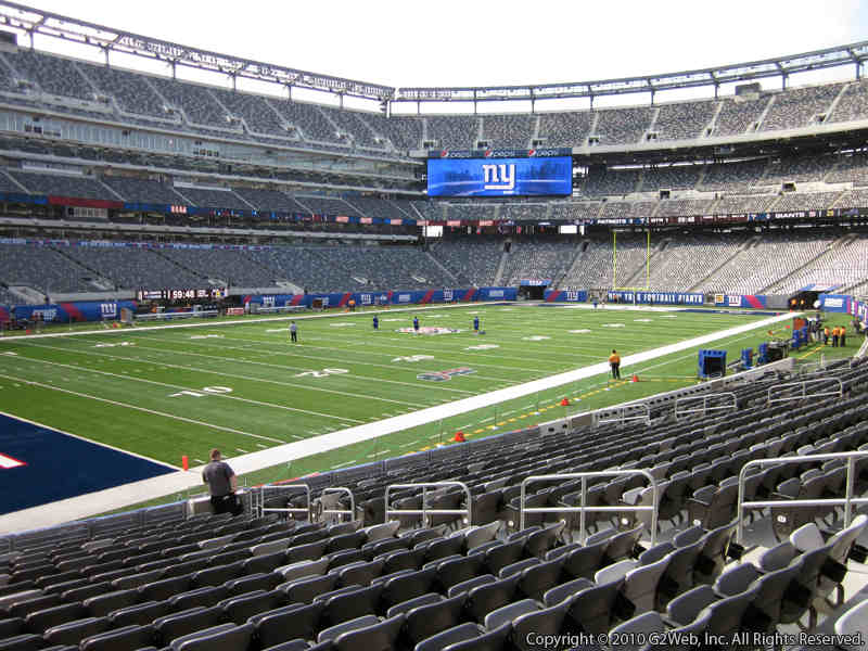 Seat view from section 118 at Metlife Stadium, home of the New York Giants