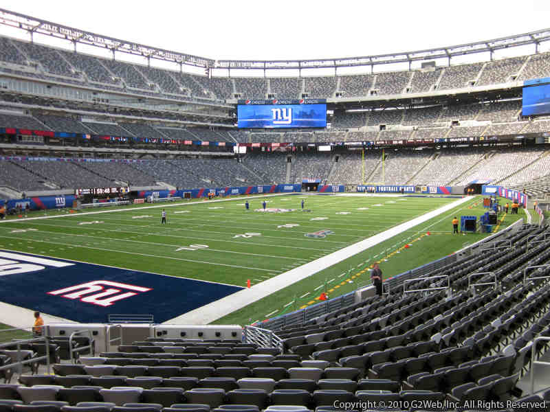 Seat view from section 121 at Metlife Stadium, home of the New York Jets
