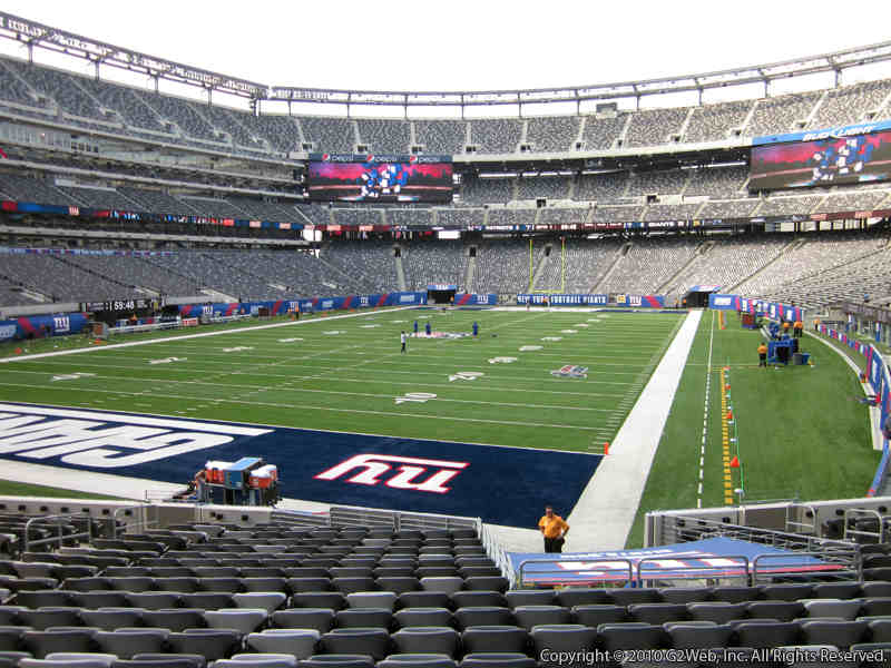 Seat view from section 123 at Metlife Stadium, home of the New York Giants