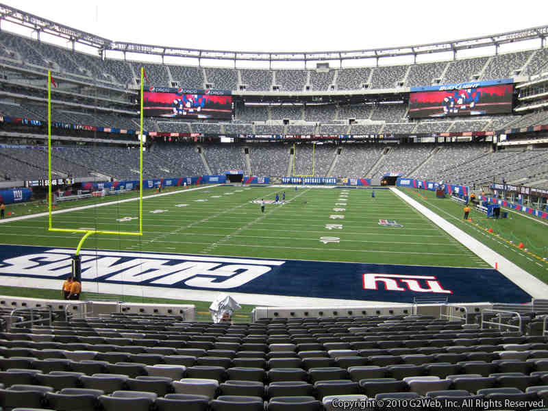 Seat view from section 124 at Metlife Stadium, home of the New York Jets