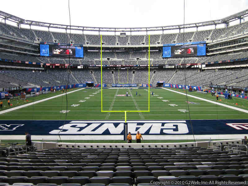 Seat view from section 126 at Metlife Stadium, home of the New York Jets