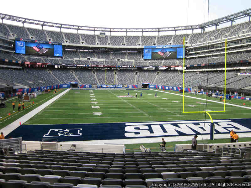 Seat view from section 128 at Metlife Stadium, home of the New York Jets