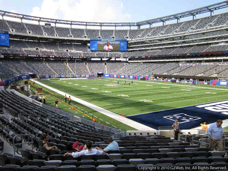 Seat view from section 131 at Metlife Stadium, home of the New York Jets