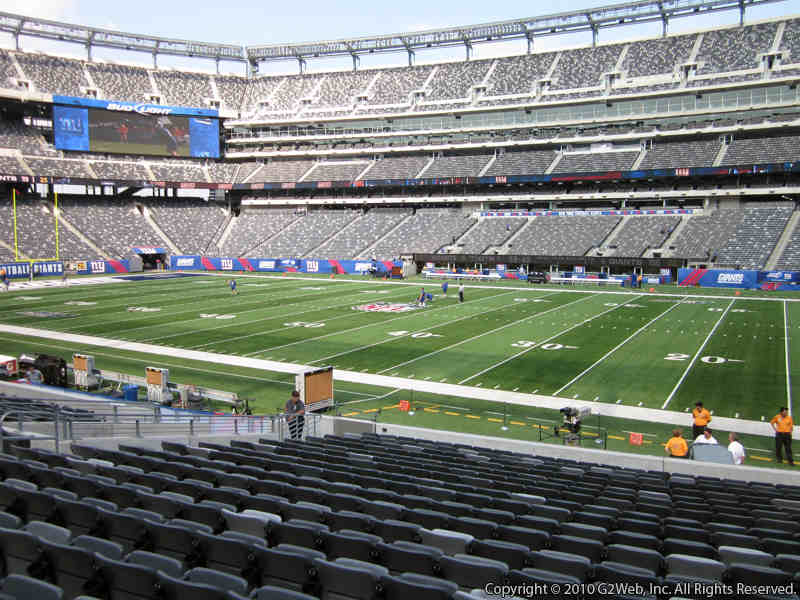 Seat view from section 135 at Metlife Stadium, home of the New York Giants