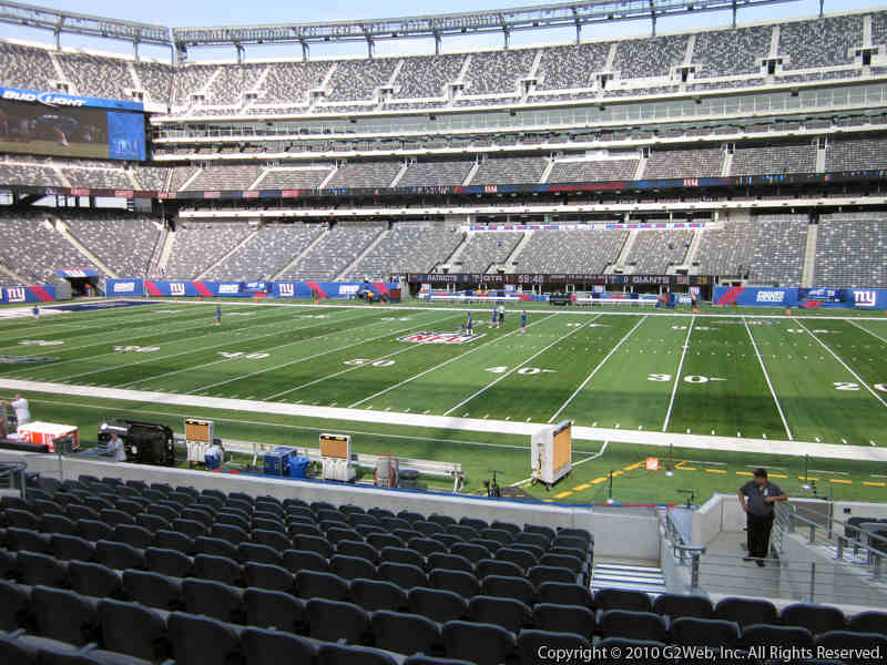 Seat view from section 137 at Metlife Stadium, home of the New York Giants