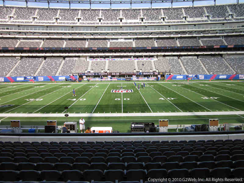 Seat view from section 139 at Metlife Stadium, home of the New York Giants