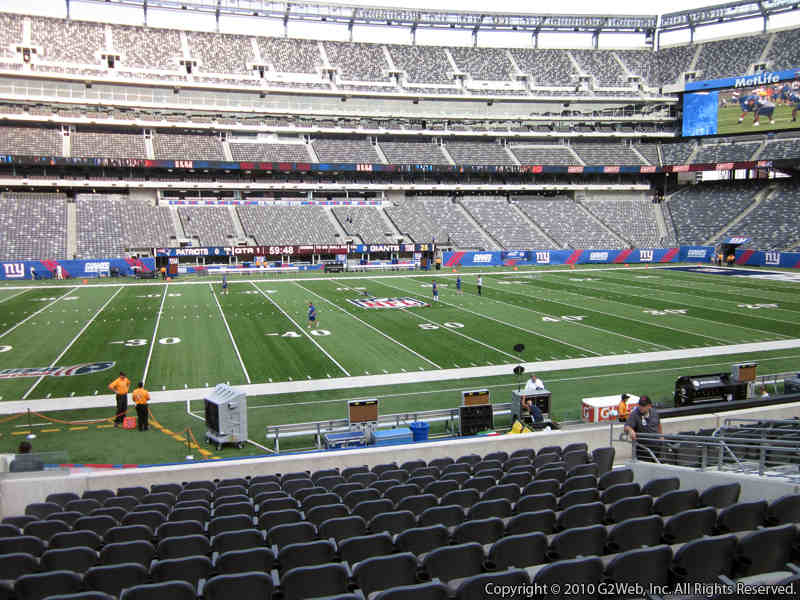 Seat view from section 140 at Metlife Stadium, home of the New York Jets