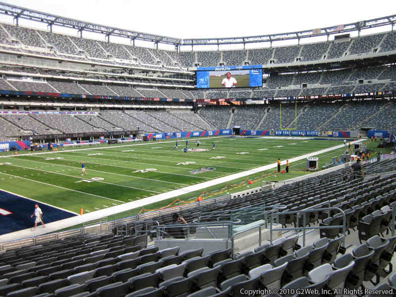 Seat view from section 144 at Metlife Stadium, home of the New York Jets