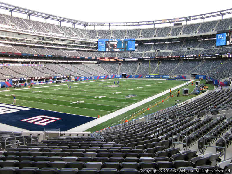 Seat view from section 146 at Metlife Stadium, home of the New York Jets
