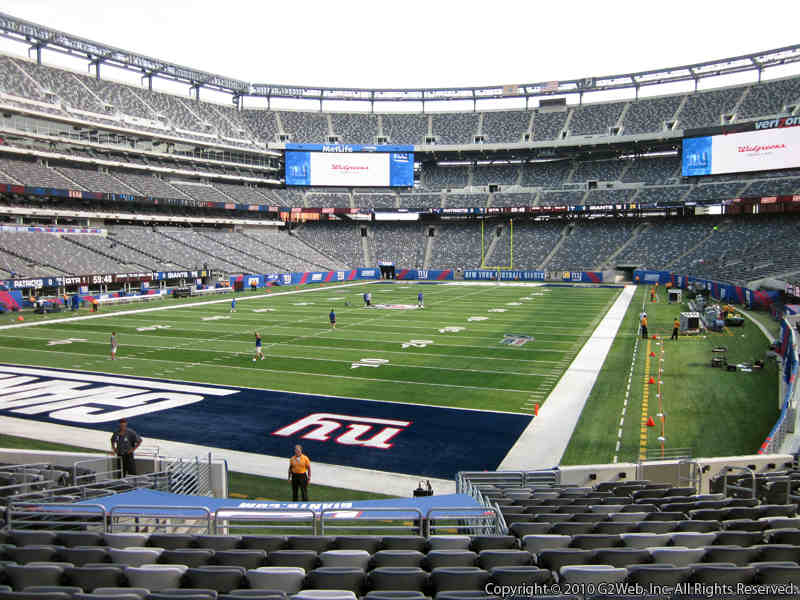 Seat view from section 148 at Metlife Stadium, home of the New York Jets