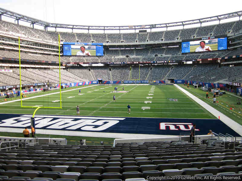 View from Section 149 at Metlife Stadium