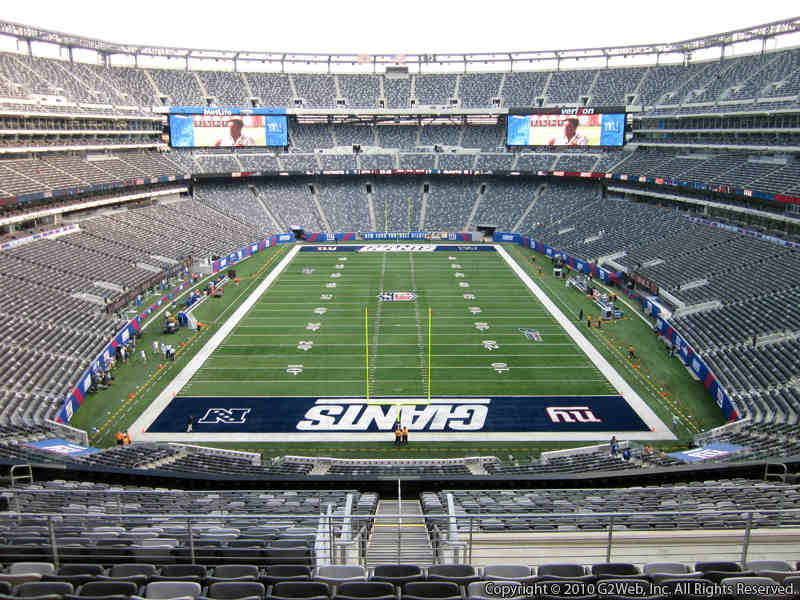 Seat view from section 201 at Metlife Stadium, home of the New York Giants