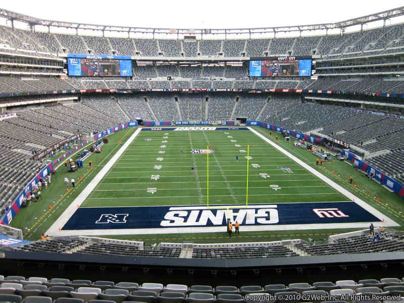 Seat view from section 202A at Metlife Stadium, home of the New York Giants