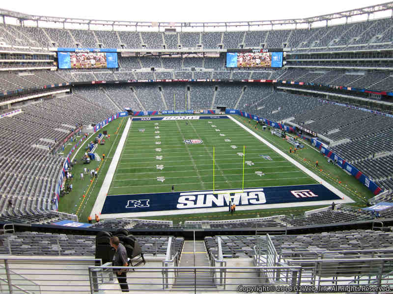 Seat view from section 202B at Metlife Stadium, home of the New York Giants